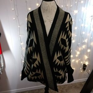Batwing Tribal Patterned Sweater